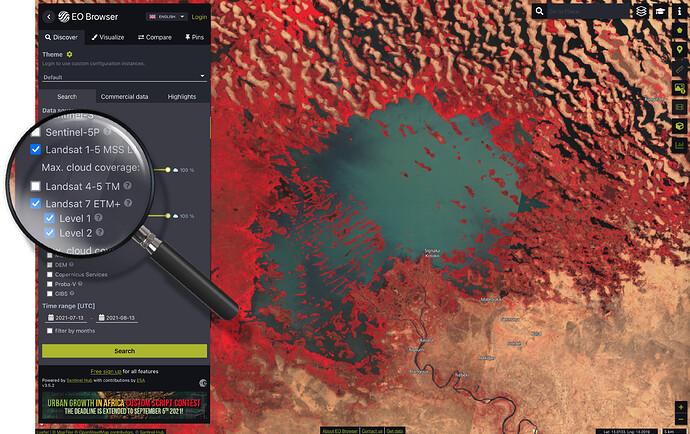 Landsat 1-5 MSS, 7 ETM
