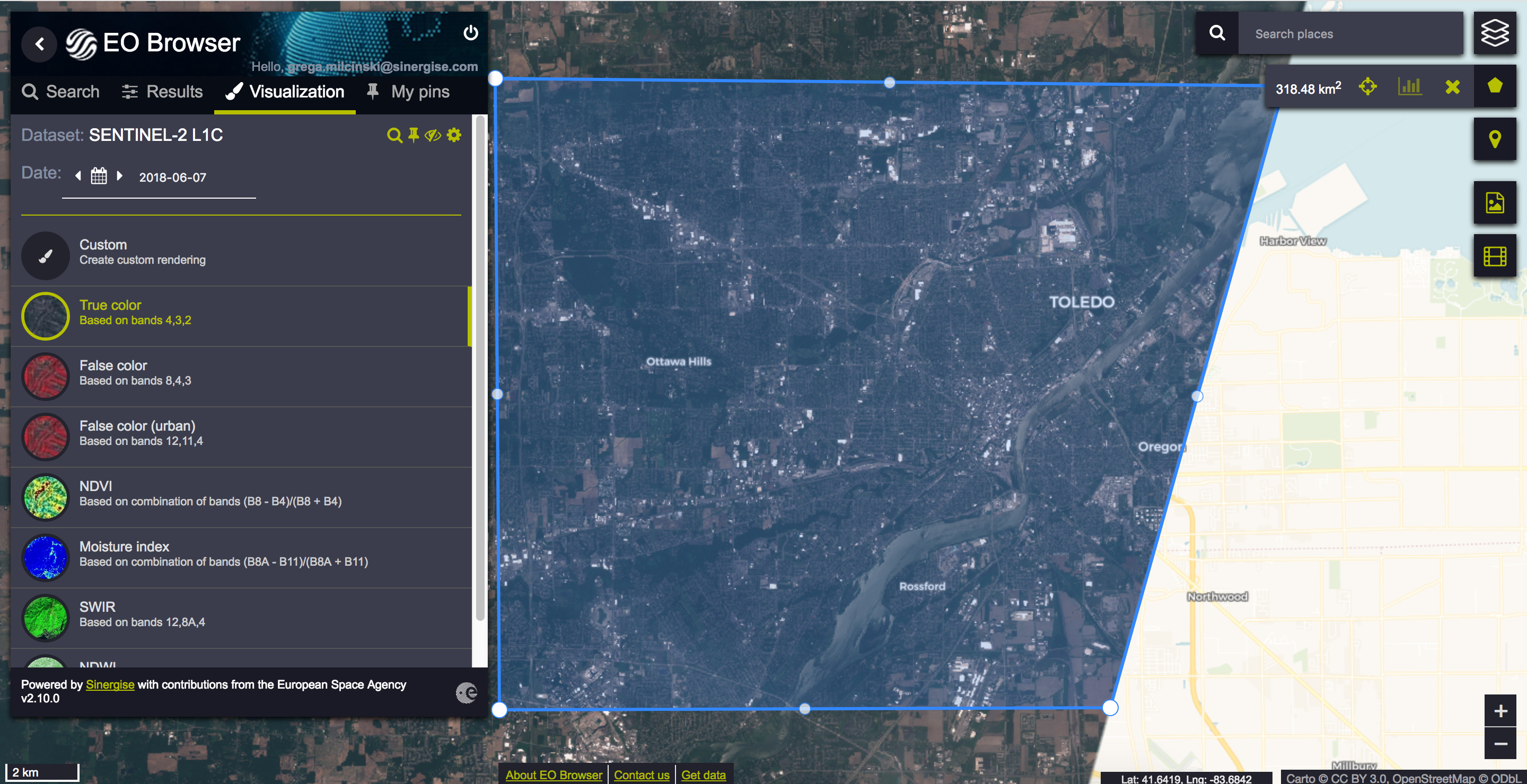 Poor Resolution for Sentinel-2 in ArcMap - Apps / Services
